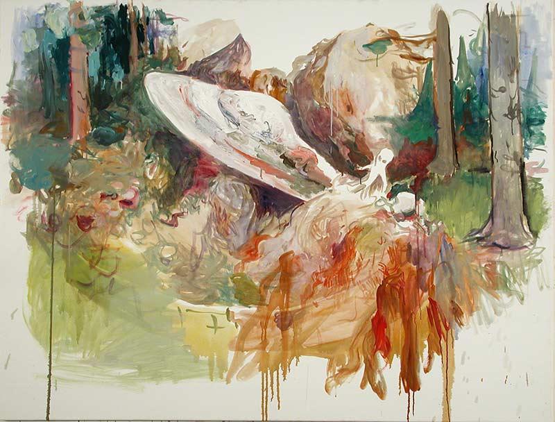 Alien, Öl auf Leinwand, 130 x 170 cm