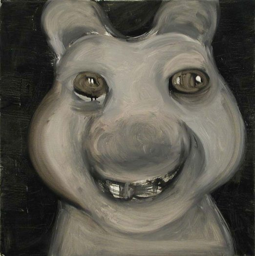 Schulz, Öl auf Leinwand, 60 x 60 cm