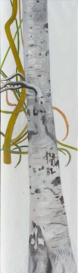 Baum 5 / Tree 5, Öl auf Leinwand, 210 x 60 cm