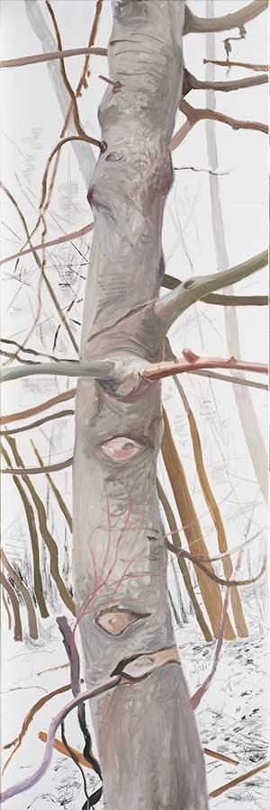 Baum 7 / Tree 7, Öl auf Leinwand, 240 x 80 cm