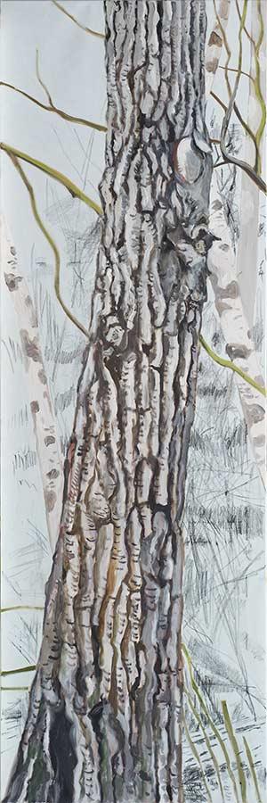 Baum 8 / Tree 8, Öl auf Leinwand, 240 x 80 cm