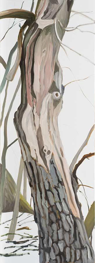 Baum 9 / Tree 9, Öl auf Leinwand, 220 x 80 cm
