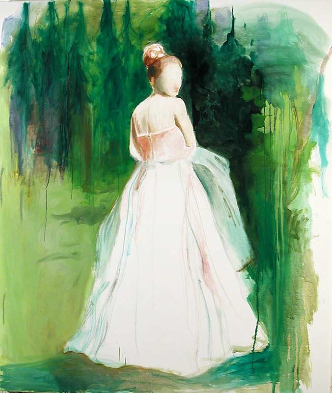 Braut im Wald 1, Öl auf Leinwand, 200 x 160 cm