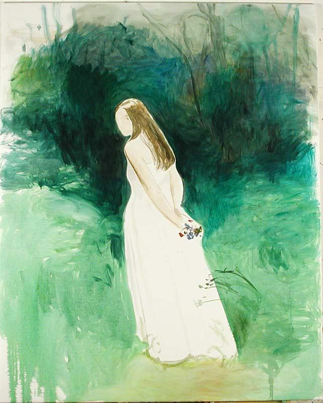 Braut im Wald 2, Öl auf Leinwand, 190 x 160 cm
