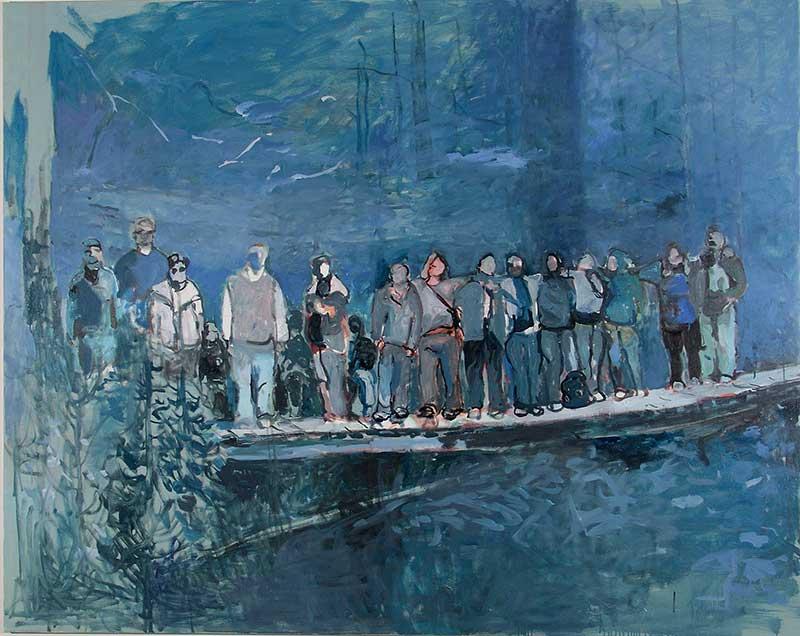Brücke / Bridge, Öl auf Leinwand, 160 x 200 cm