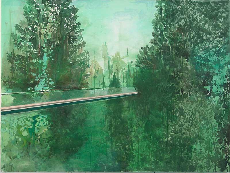 Die Brücke / The Bridge, Öl auf Leinwand, 150 x 200 cm