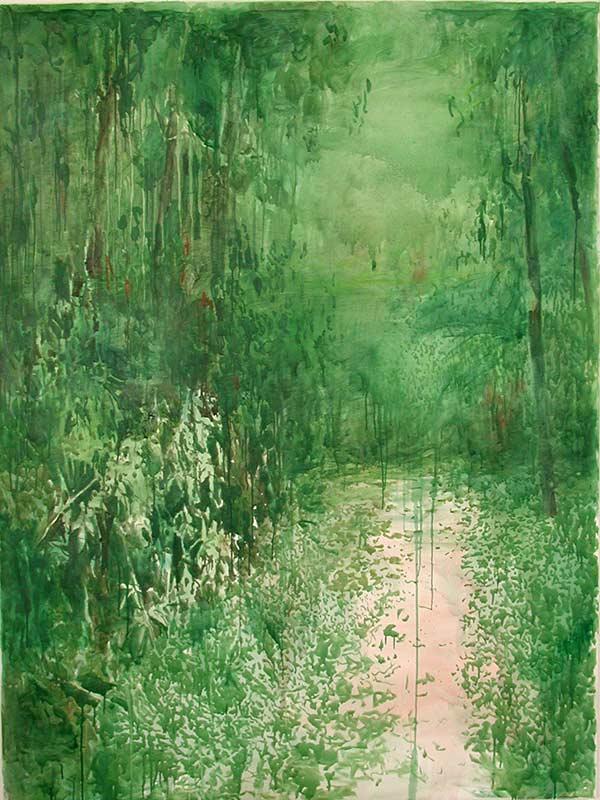 Entrance, Öl auf Leinwand, 200 x 150 cm