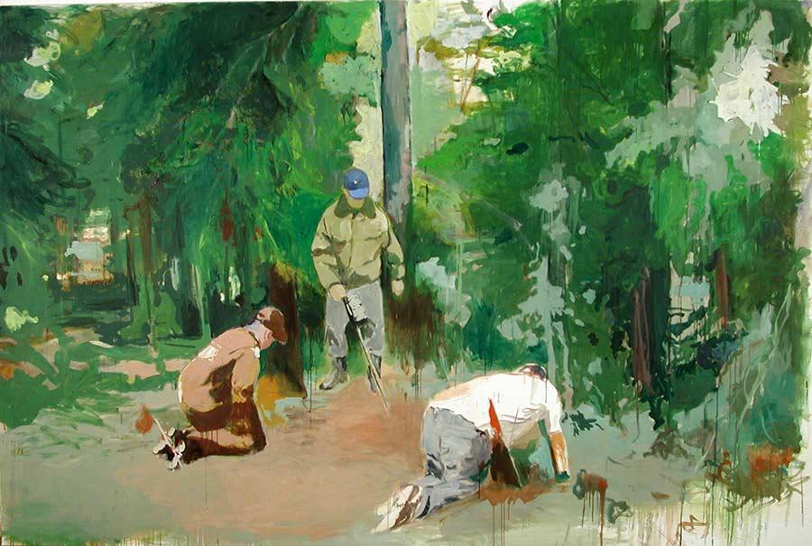 Investigators, Öl auf Leinwand, 200 x 300 cm