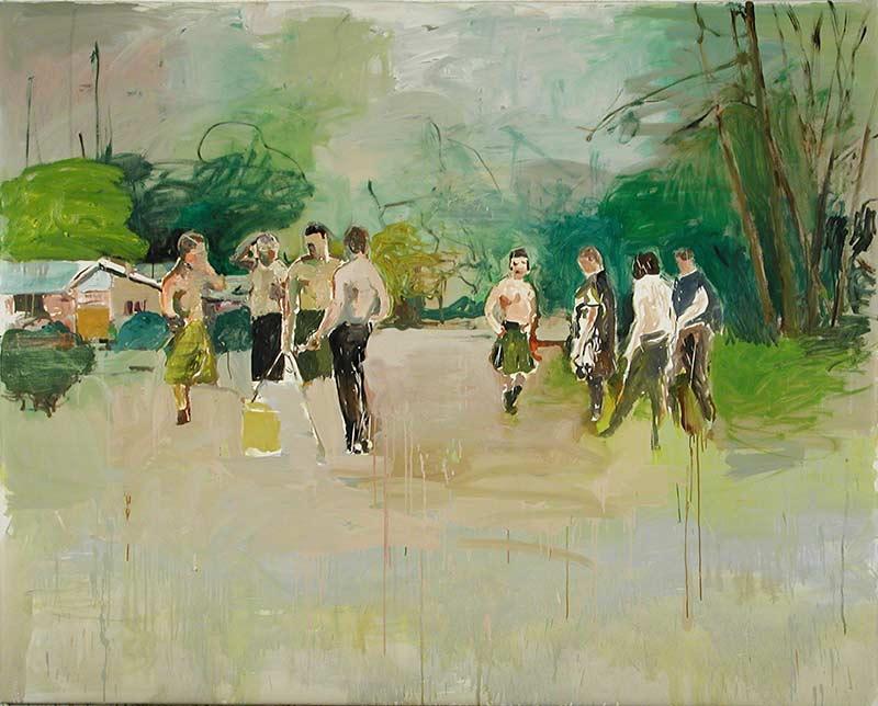 Kämpfer / Fighters, Öl auf Leinwand, 160 x 200 cm