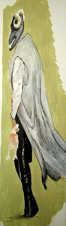 Kerle 1. Öl auf Leinwand, 300 x 95 cm
