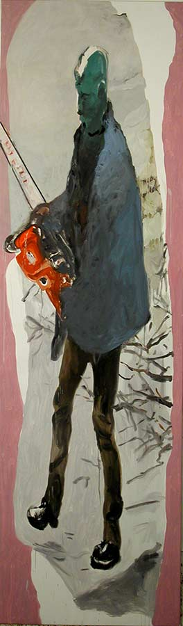 Kerle 2. Öl auf Leinwand, 300 x 95 cm