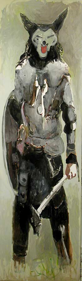 Kerle 3. Öl auf Leinwand, 300 x 95 cm