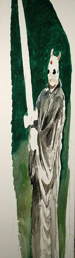 Kerle 4. Öl auf Leinwand, 300 x 95 cm