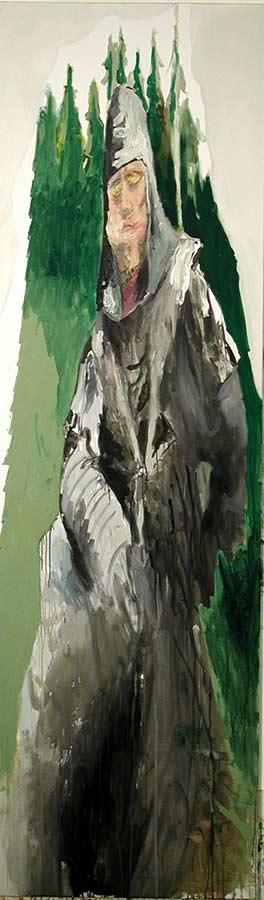 Kerle 5. Öl auf Leinwand, 300 x 95 cm