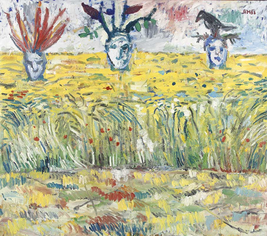 Kornfeld / Corn Field, Öl auf Leinwand, 195 x 220 cm