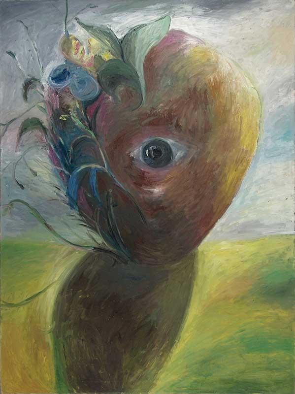 Rollkopf / Roll Head, Öl auf Leinwand, 200 x 150 cm