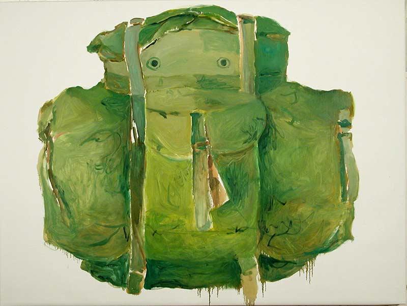 Rucksack, Öl auf Leinwand, 120 x 160 cm