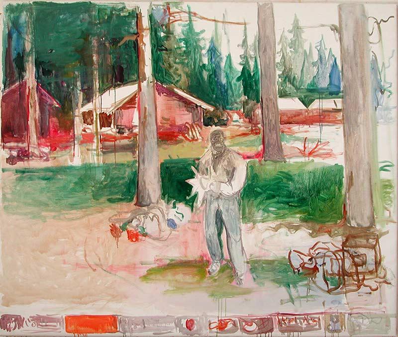 Szene 1, Öl auf Leinwand, 160 x 190 cm