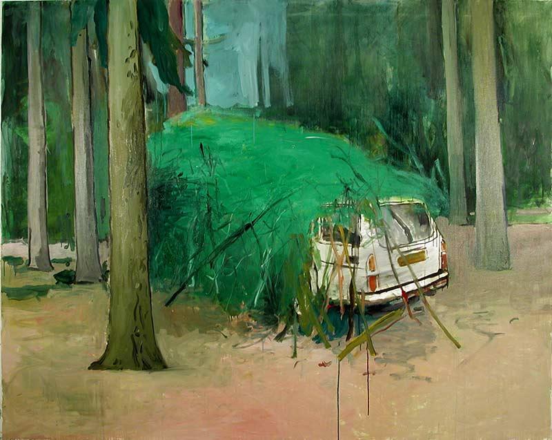 Volvo, Öl auf Leinwand, 200 x 160 cm