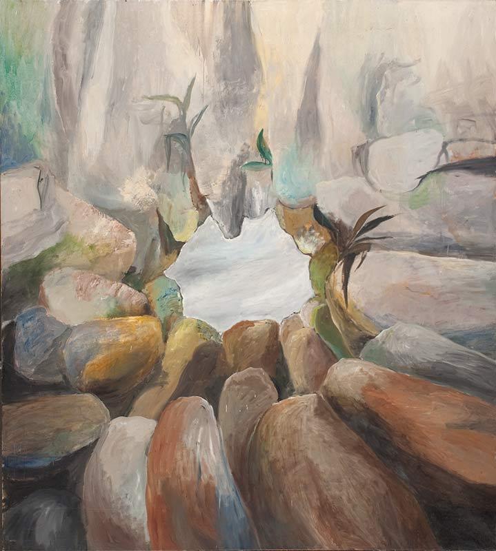 Zentrumsbild / Center Picture, Öl auf Leinwand, 200 x 180 cm