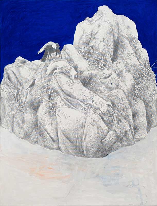 Aftermath 8, Mischtechnik auf Leinwand, 170 x 130 cm
