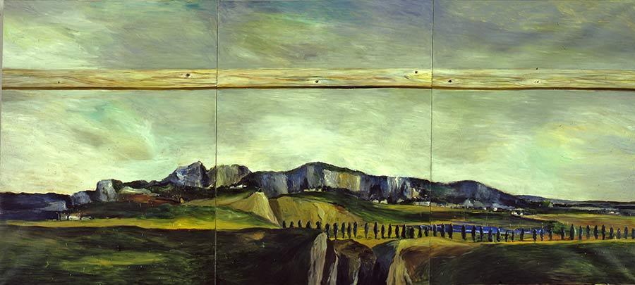 Die große Szene / The Large Scene, Öl auf Leinwand, 240 x 560 cm