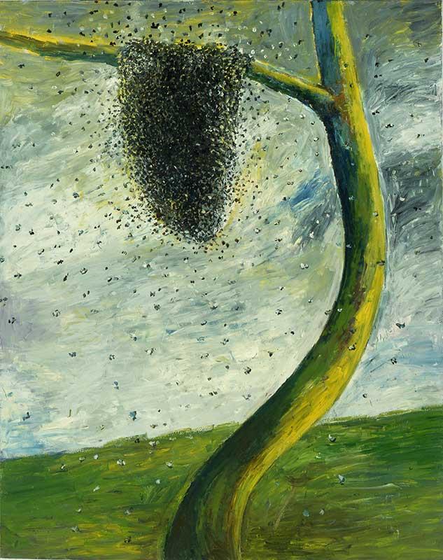 Bienenschwarm / Swarm of Bees, Öl auf Leinwand, 240 x 190 cm