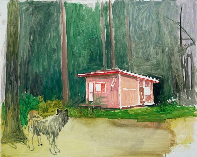 Cabin 2, Öl auf Leinwand, 80 x 100 cm