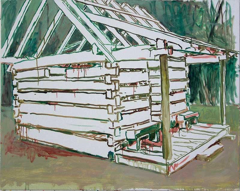 Cabin 3, Öl auf Leinwand, 80 x 100 cm