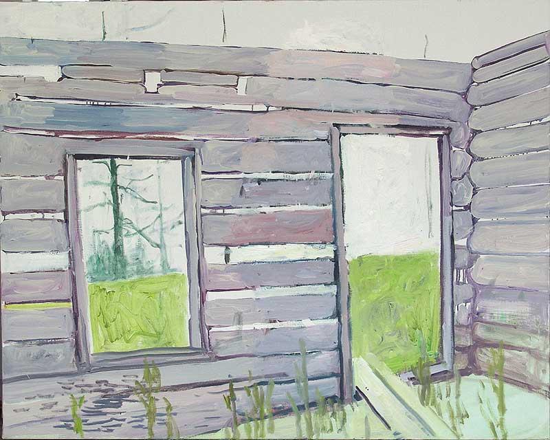 Cabin 18, Öl auf Leinwand, 80 x 100 cm
