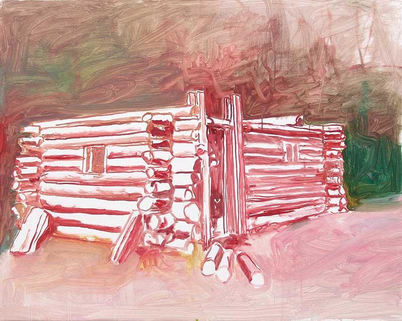 Cabin 19, Öl auf Leinwand, 80 x 100 cm