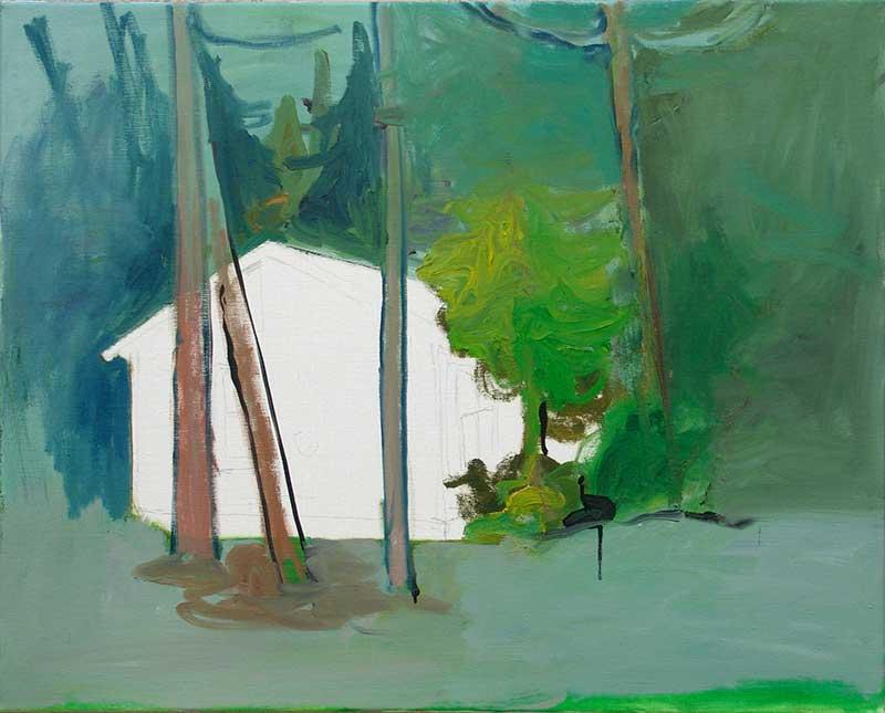 Cabin 22, Öl auf Leinwand, 80 x 100 cm
