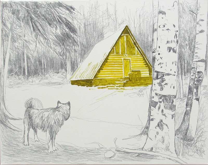 Cabin 24, Öl auf Leinwand, 80 x 100 cm