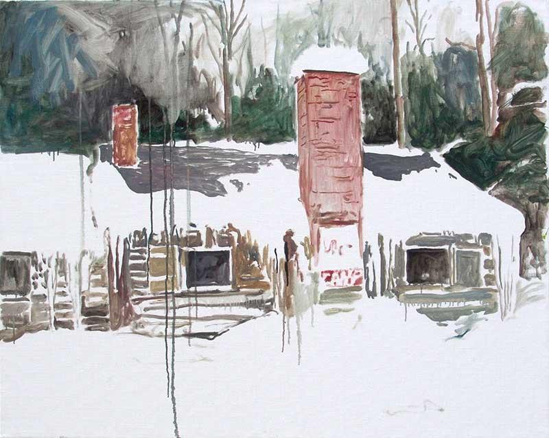 Cabin 34, Öl auf Leinwand, 80 x 100 cm
