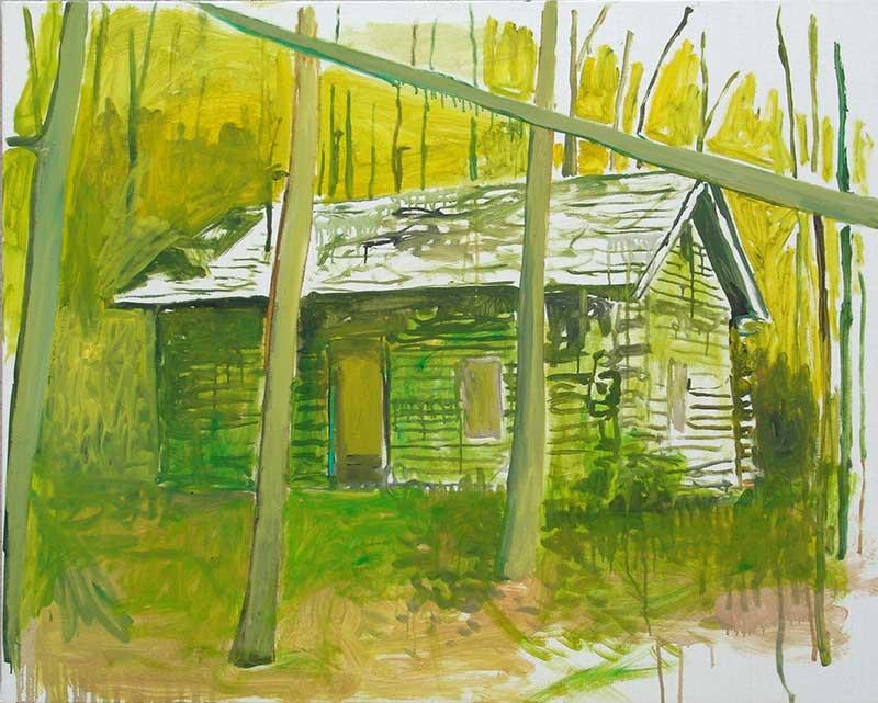 Cabin 35, Öl auf Leinwand, 80 x 100 cm