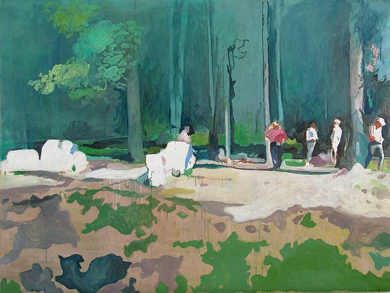 Camp, Öl auf Leinwand, 150 x 200 cm