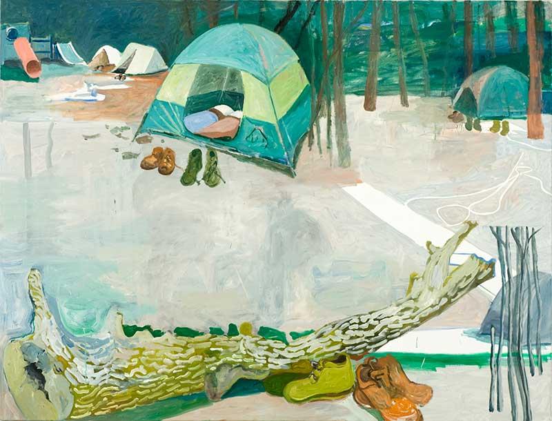 Camp, Öl auf Leinwand, 160 x 210 cm