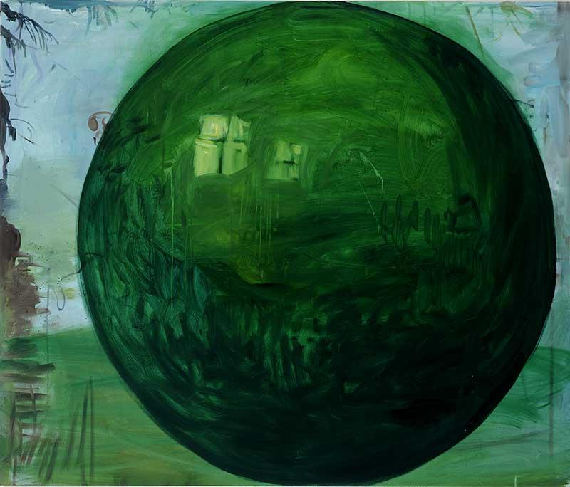 Kugel / Bowl, Öl auf Leinwand, 160 x 190 cm