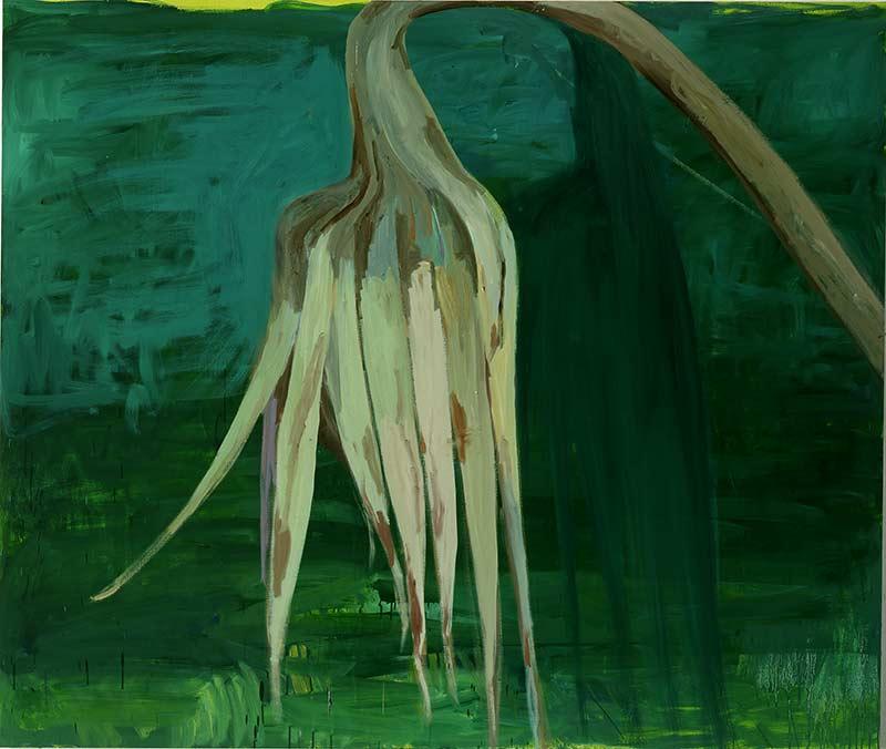 Pflanze / Plant, Öl auf Leinwand, 160 x 190 cm
