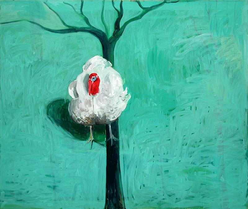 Truthahn / Turkey, Öl auf Leinwand, 160 x 190 cm