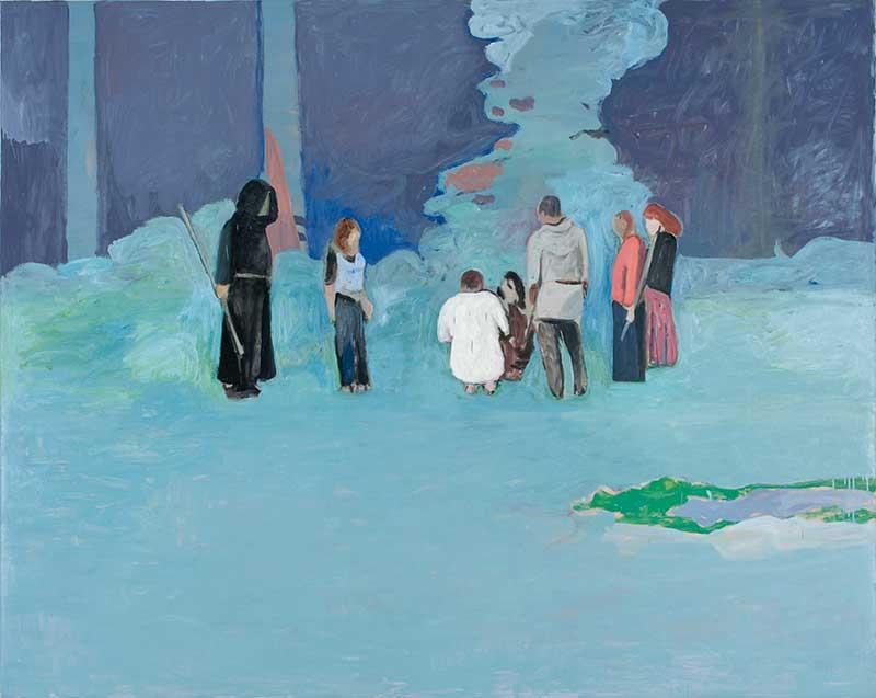 Gruppe / Group, Öl auf Leinwand, 160 x 200 cm