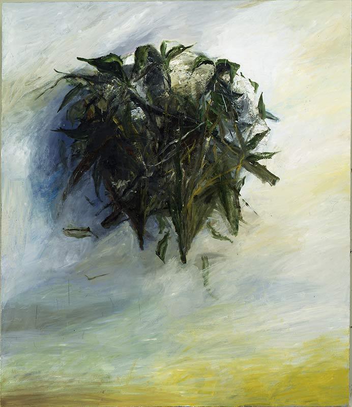Krauskopf / Fuzzy Head, Öl auf Leinwand, 150 x 130 cm