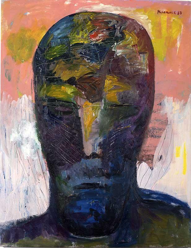 Kummerkopf / Sorrow Head, Öl auf Leinwand, 195 x 150 cm