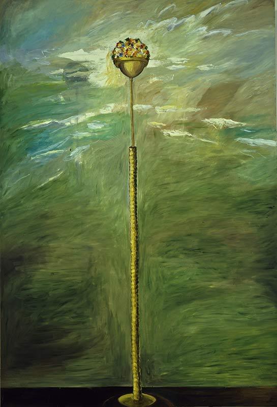 Lampe / Lamp, Öl auf Leinwand, 280 x 190 cm