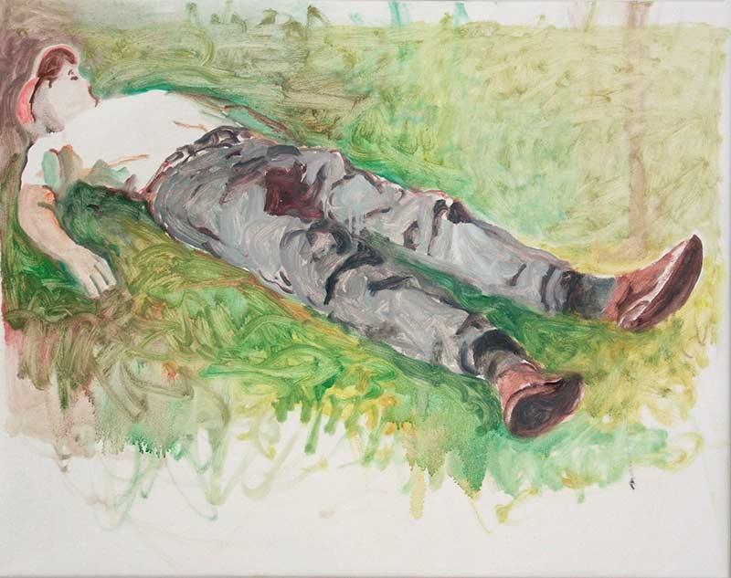 Leo, Öl auf Leinwand, 80 x 100 cm