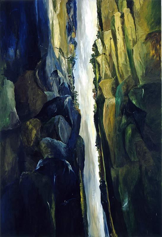 Die Schlucht / The Canyon, Öl auf Leinwand, 280 x 190 cm