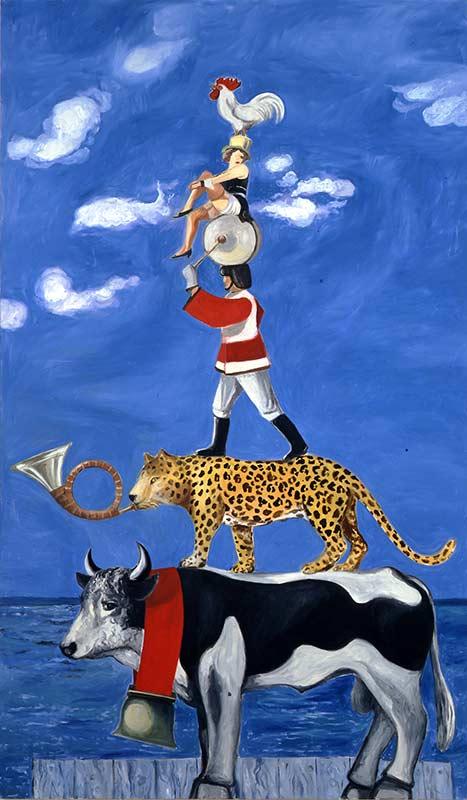 Sicht der Dinge - Lauf der Farbe 1 / View of Things – Course of Color 1, Öl auf Leinwand, 240 x 140 cm