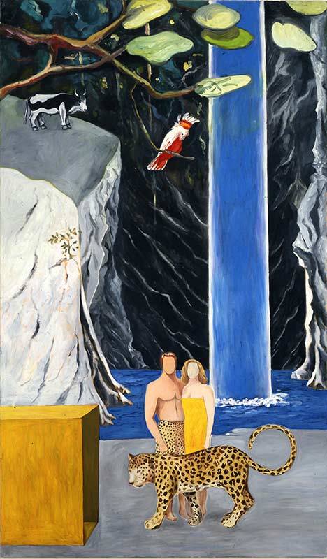 Sicht der Dinge - Lauf der Farbe 6 / View of Things – Course of Color 6, Öl auf Leinwand, 240 x 140 cm