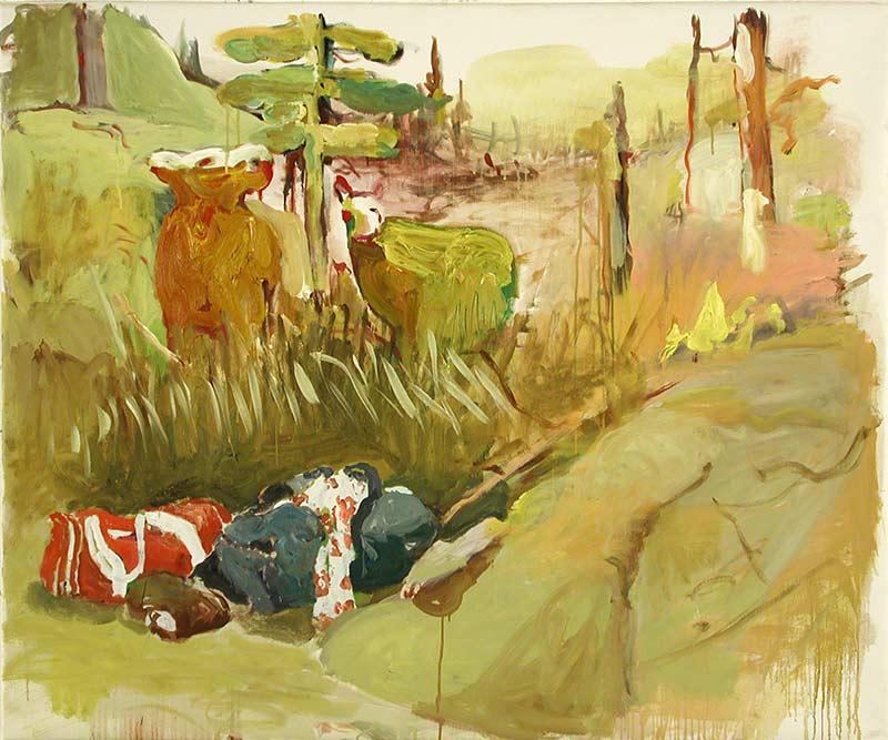 Verbrechen im Norden / Crime in the North, Öl auf Leinwand, 100 x 120 cm