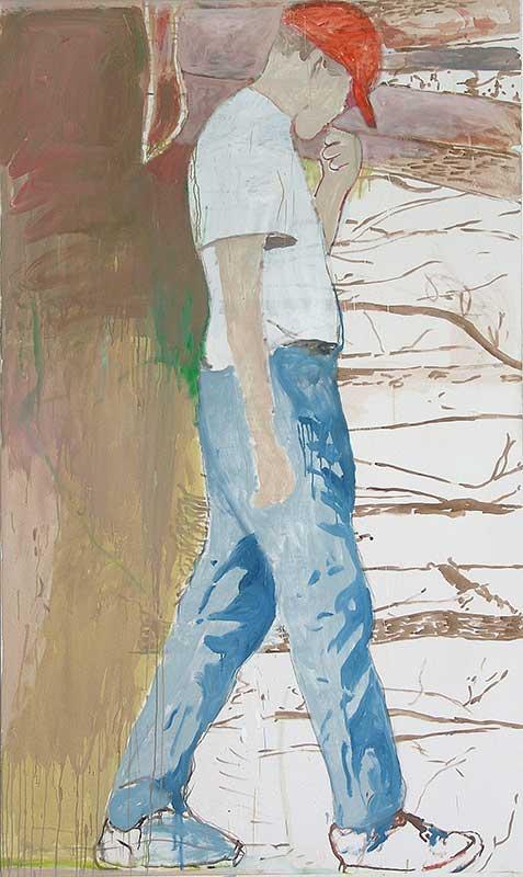 Walking, Öl auf Leinwand, 200 x 120 cm